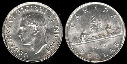 1938 Canadian Commemorative Silver Dollar-Br-Unc-Scarce. - J.V. Bond Company