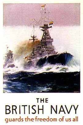 British Navy Poster- - J.V. Bond Company