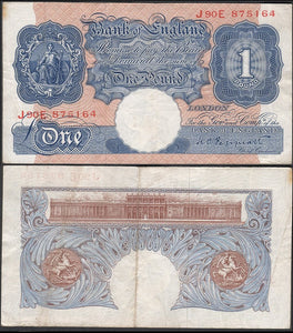 British One Pound banknote - J.V. Bond Company