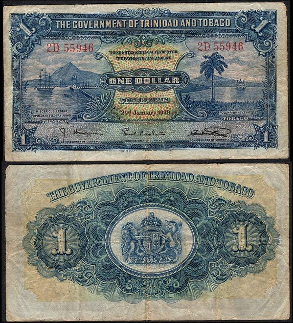Trinidad and Tobago- One Dollar note - J.V. Bond Company