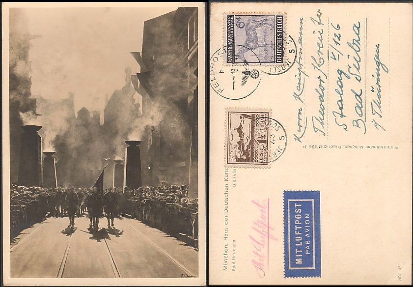 Nazi Culture Religious Ceremony Photo Card-Feldpost-Jersey-Extremely Rare! - J.V. Bond Company