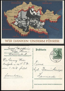 We have the Furher to Thank!-colorful anschluss Card-Rare! - J.V. Bond Company