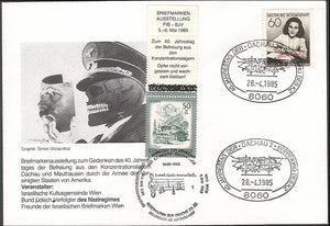 Hitler as Death-Anne Frank-Dachau 40 anniversary of liberation!-Very Rare! - J.V. Bond Company