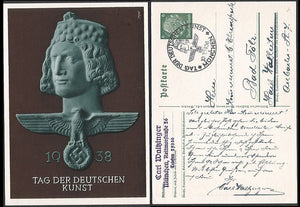 German Culture Day-1938 Art Card. Scarce. Munich Cancel. - J.V. Bond Company