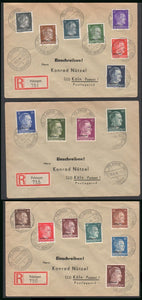 Hitler Head complete 3 cover set with Ostland overprints-RARE. - J.V. Bond Company