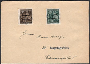 Hitler in Full uniform- Bohemia & Moravia stamps on cover- Clean cover. - J.V. Bond Company