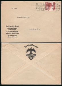 Official cover from the Nazi department of Agriculture-Rare. - J.V. Bond Company