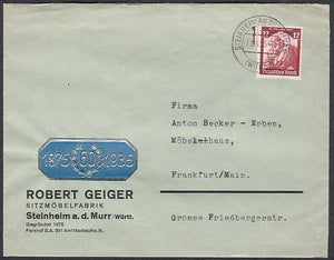 Nice Nazi business cachet on cover. - J.V. Bond Company