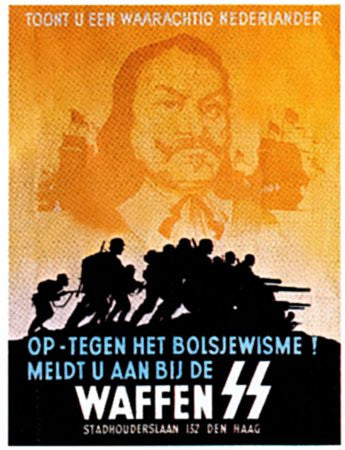 Dutch SS Recruitment Poster. - J.V. Bond Company