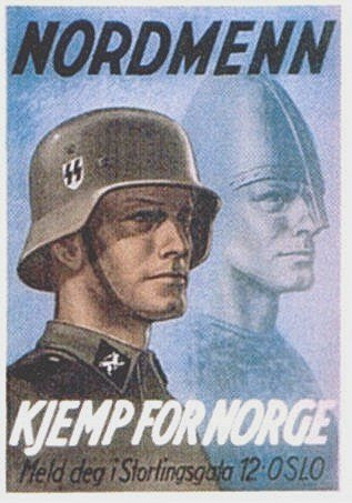 Northmen, Fight for Norway! SS Recruitment Poster. - J.V. Bond Company