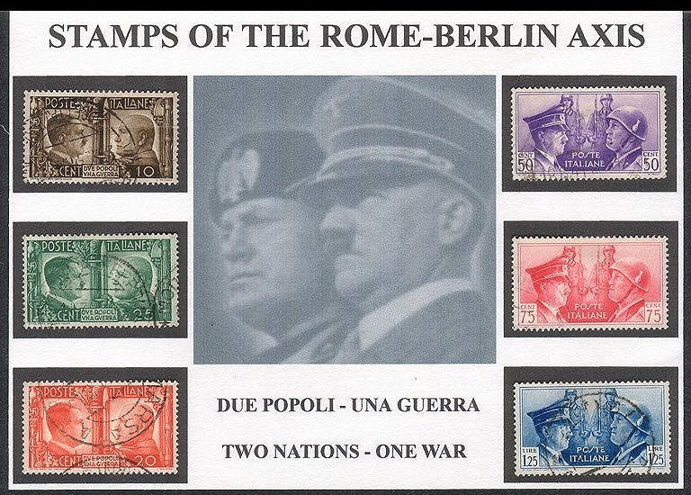 Stamps of the Rome - Berlin Axis - J.V. Bond Company