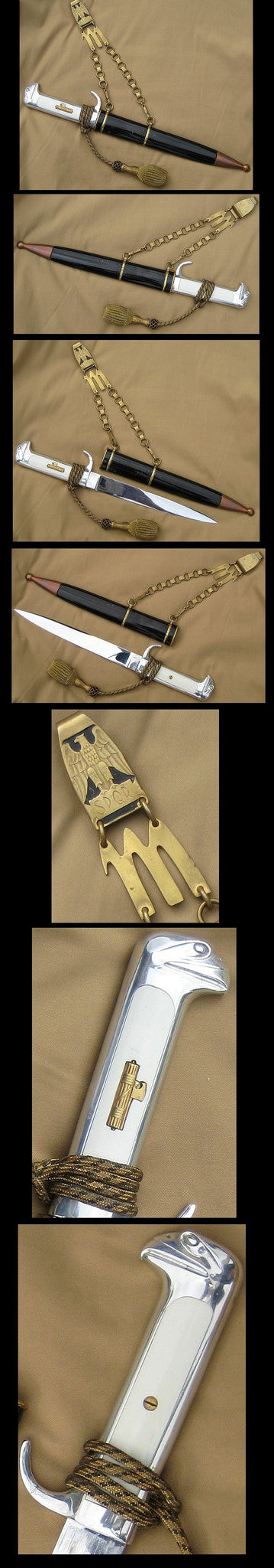 MVSN Fascist High Command/Generals Dress Dagger, model 1937, Mint +. Extremely Rare! - J.V. Bond Company