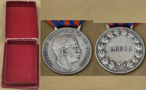 Campaign Medal for Libya (silver) -Very Rare in Mint++. - J.V. Bond Company