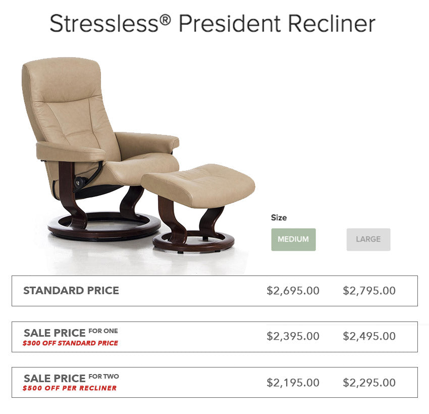 Stressless President Recliner - Furniture Market