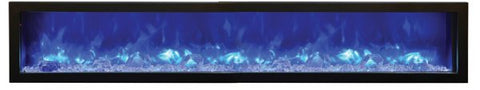 88″ Slim  Electric Fireplace Built-in