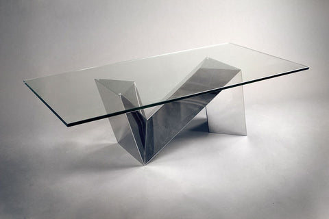 Dining Table Polished Stainless Steel