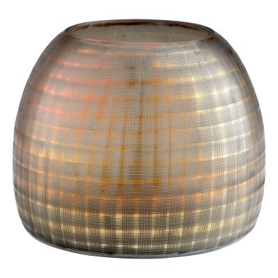 Gradient Grid Vase Wide