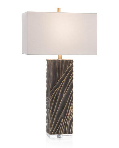 Scuplted Table Lamp