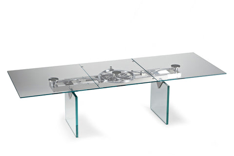 Quasar Dining Table w/ Remote Sliding Top