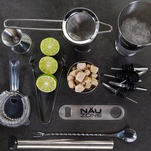 14 Piece Professional Bar Set | 28 oz Weighted Bottom Boston Shaker: Restaurant Quality Bartender Kit - Plain Packaging