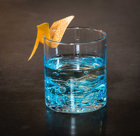 Jovian Collection Cocktail Glass: – Elegant Glassware – [Blue]