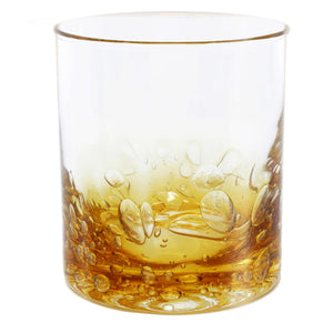 Jovian Collection Cocktail Glasses : – Elegant Glassware – Set of 4 [AMBER]