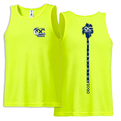 '2020 Training' Men's Tech Singlet -Safety Yellow -OC Marathon
