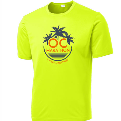 'Circle' Men's SS Tech Tee - Neon Yellow