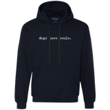 Men's Dogs Have Souls Men's Heavyweight Pullover Fleece Sweatshirt