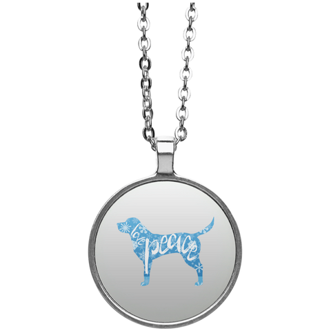 Love, Peace, and Dogs Circle Necklace