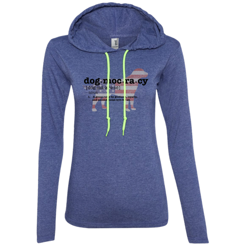 Dogmocracy Ladies Long Sleeve T-Shirt Hoodie