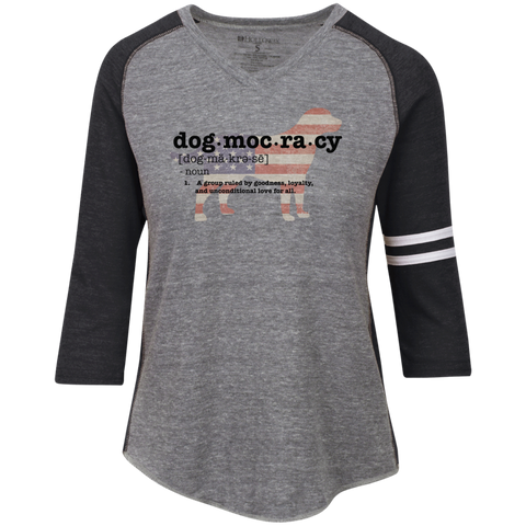 Dogmocracy Ladies' Vintage V-neck Shirt