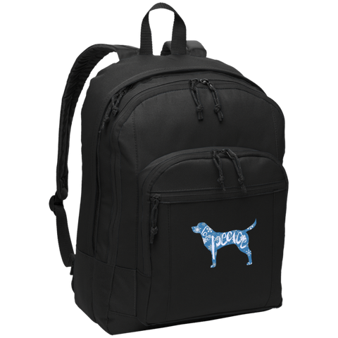 Love, Peace, and Dogs Basic Backpack