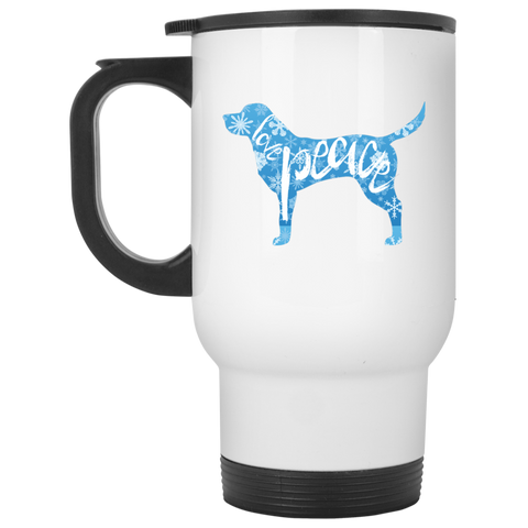 Love, Peace, and Dogs Travel Mug
