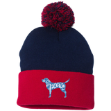 Love, Peace, and Dogs Pom Pom Knit Cap