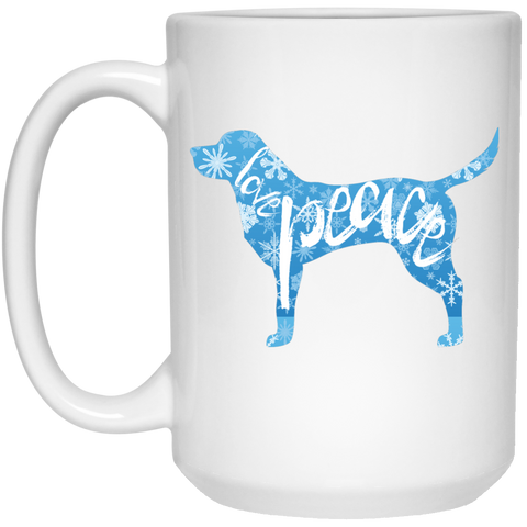 Love, Peace, and Dogs Mug - 15oz