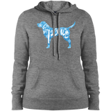 Love, Peace, and Dogs Ladies Pullover Hooded Sweatshirt