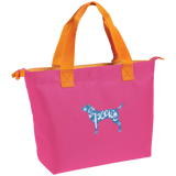Love, Peace, and Dogs Zippered Tote