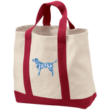 Love, Peace, and Dogs 2-Tone Shopping Tote