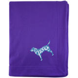 Love, Peace, and Dogs Embroidered Blanket