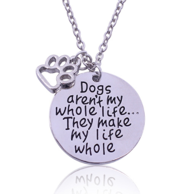 Make Life Whole Paw Necklace