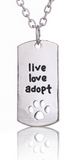 Live Love Adopt Charm Necklace