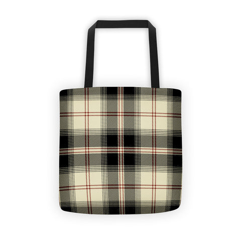 Tartan Plaid All-Over Tote bag