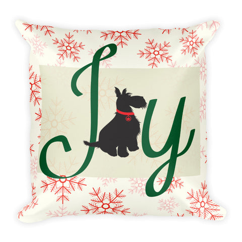 Joy of a Dog Holiday Throw Pillow
