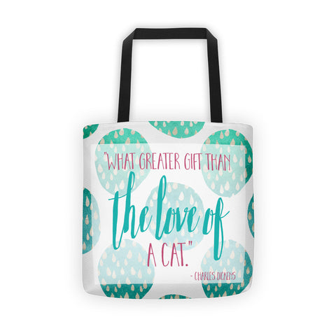 Charles Dickens Love of a Cat Tote bag