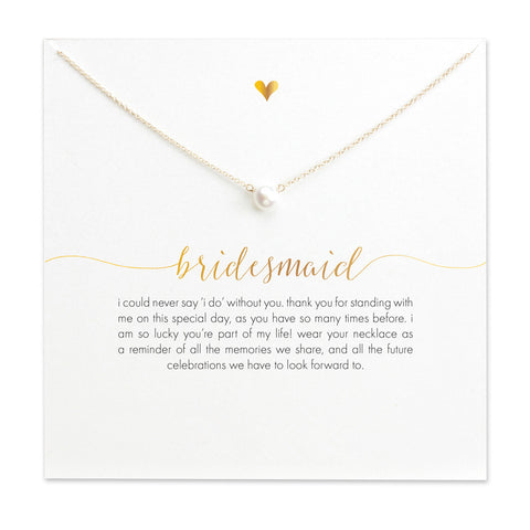Bridesmaid Imitation Pearl Gold-Plated Pendant Necklaces
