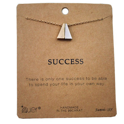 Success Pendant Choker Necklace