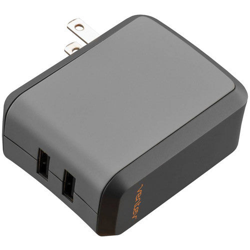 Side view of Ventev® Wallport Dual USB 2100 Charger