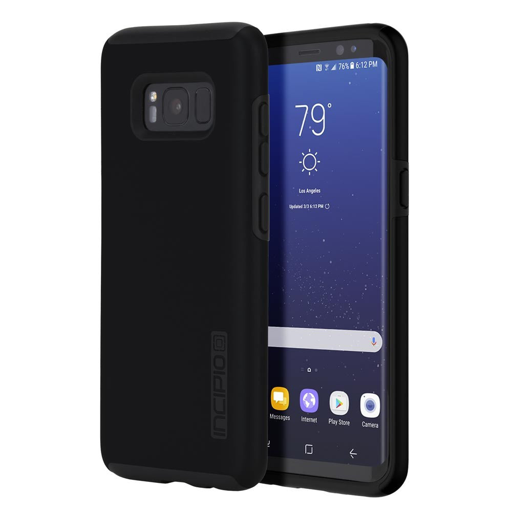 Black Incipio® DualPro™ Protective Case for Samsung Galaxy S8 Plus