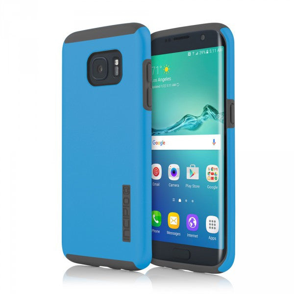 Blue/Gray Incipio® DualPro™ Hard Shell Case for Samsung Galaxy S7 Edge